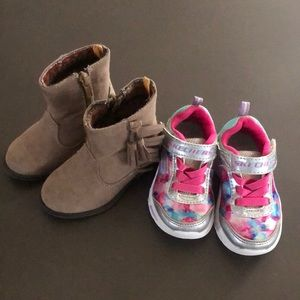 Sketchers light up sneakers and koala kids boots